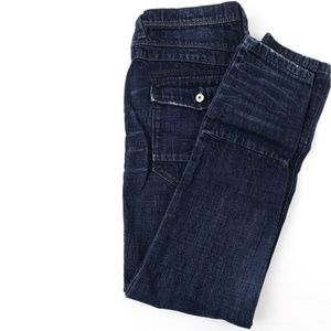 Free People 27 Jeans Straight Button Fly Denim